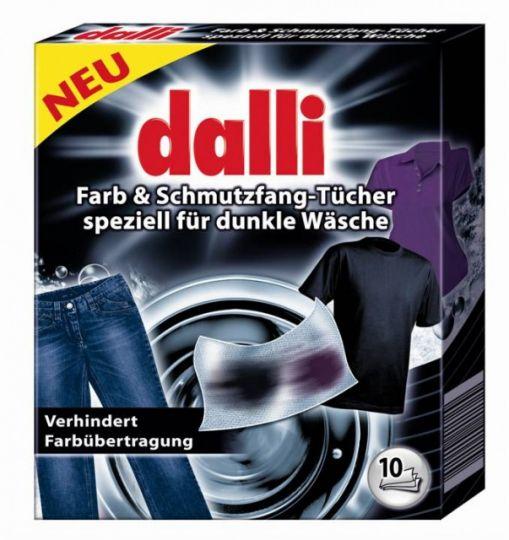Ловушка цвета для черного белья одноразовая 10 шт Dalli