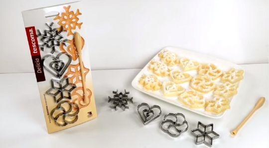 TESCOMA Формочки для вафельного печенья DELICIA 4 шт 630048